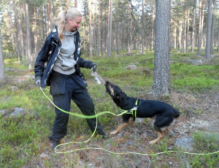Sara Markström och Leah.