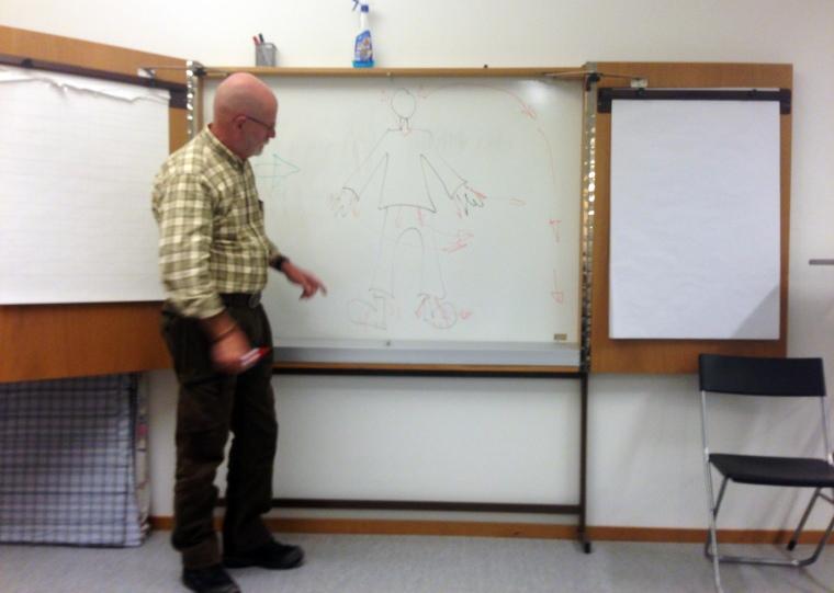 Christer Hansson inledde kursen med teori.